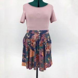 smash! Colourful Elastic Waist Circle Skirt, Large